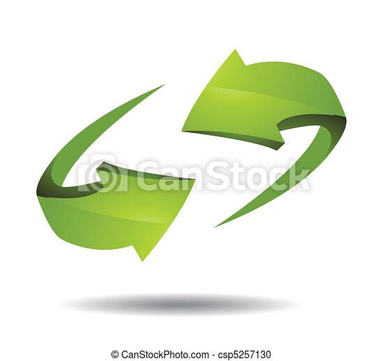 Arrow 3d icon vector illustration - csp5257130