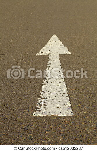 Arrow at the road - csp12032237