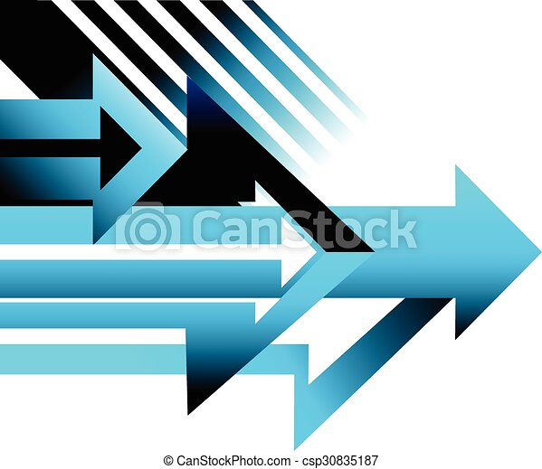 arrow background design page conceptual vector illustration - csp30835187