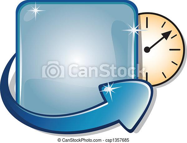 Arrow Banner & Clock Timer - csp1357685