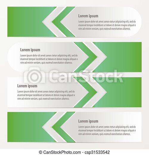 Arrow Banner Vector green color - csp31533542