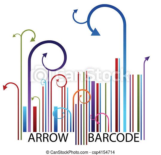 Arrow Barcode - csp4154714