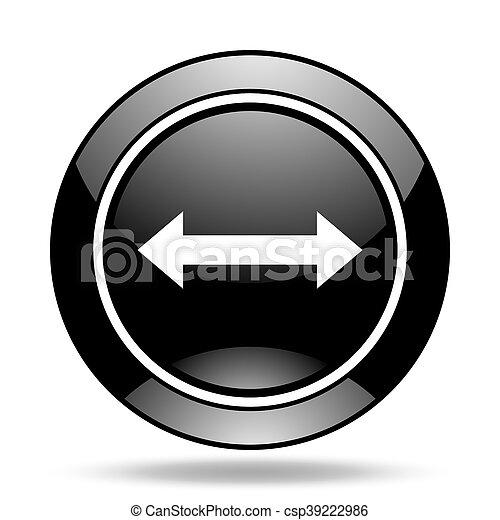 arrow black glossy icon - csp39222986
