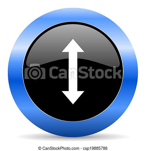 arrow blue glossy icon - csp19885786