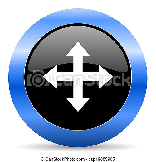 arrow blue glossy icon - csp19885905