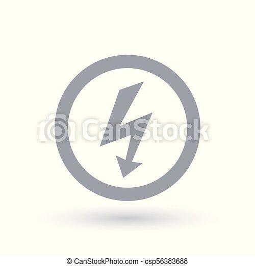 Arrow bolt icon electric flash symbol Arrow bolt icon in vector