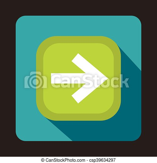 Arrow button icon, flat style - csp39634297