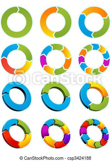 Arrow circles  - csp3424188