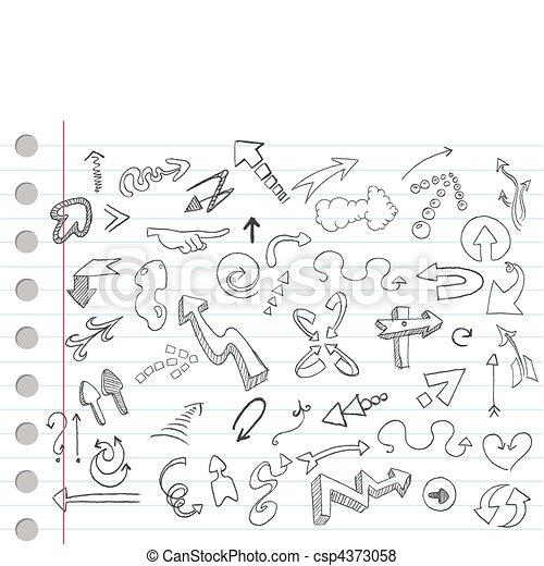 Arrow doodles - csp4373058