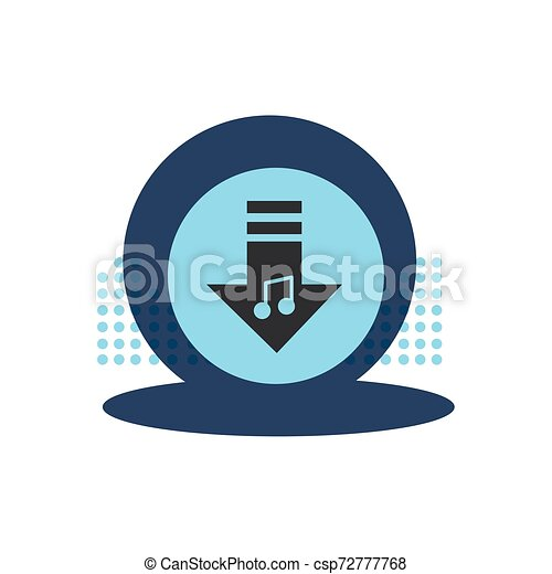 arrow download button isolated icon - csp72777768
