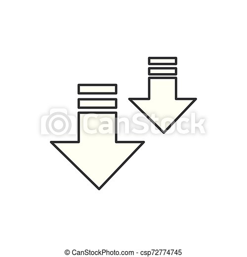 arrow download button isolated icon - csp72774745