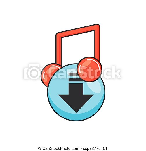 arrow download button isolated icon - csp72778401