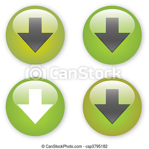 arrow download green button icon - csp3795182