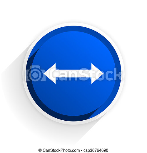 arrow flat icon with shadow on white background, blue modern design web element - csp38764698