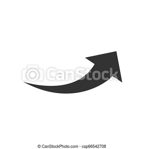 Arrow flat web icon isolated on white background. Modern vector illustration - csp66542708