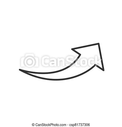 Arrow flat web icon isolated on white background. Modern vector illustration - csp81737306