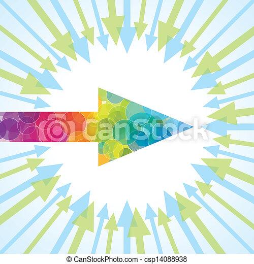 arrow for business concept - csp14088938