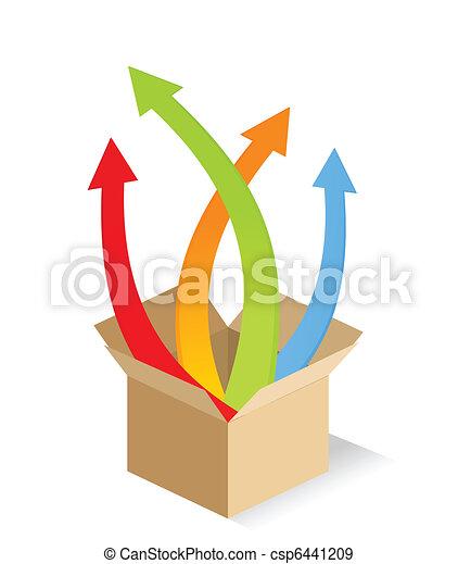 Arrow from a box - csp6441209