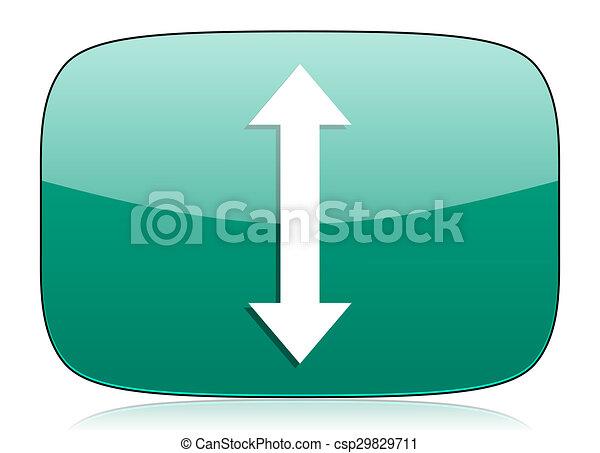 arrow green icon - csp29829711