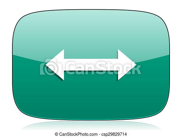 arrow green icon - csp29829714