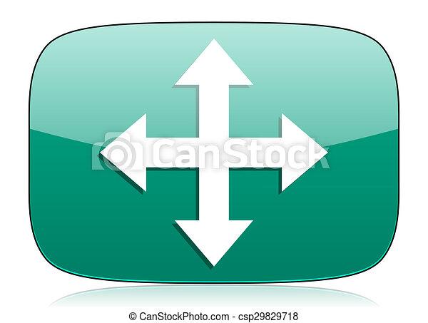 arrow green icon - csp29829718