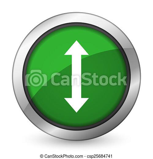 arrow green icon - csp25684741