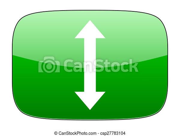 arrow green icon - csp27783104