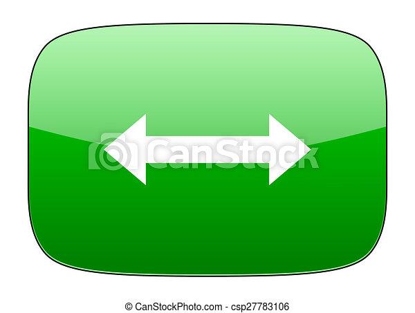 arrow green icon - csp27783106
