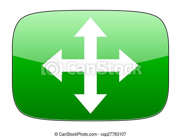 arrow green icon - csp27783107