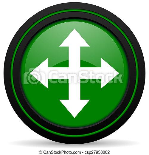 arrow green icon - csp27958002