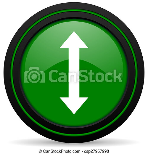 arrow green icon - csp27957998