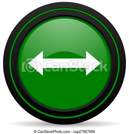 arrow green icon - csp27957999