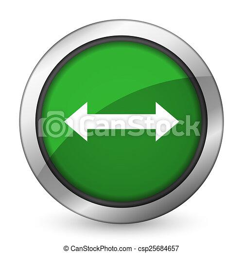 arrow green icon - csp25684657
