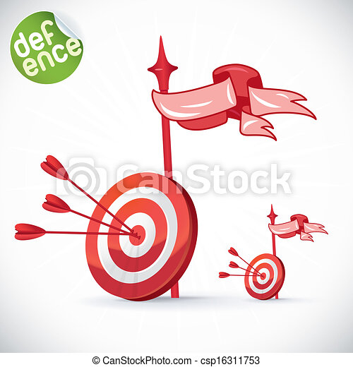 Arrow Hitting Directly In Bulls Eye - csp16311753