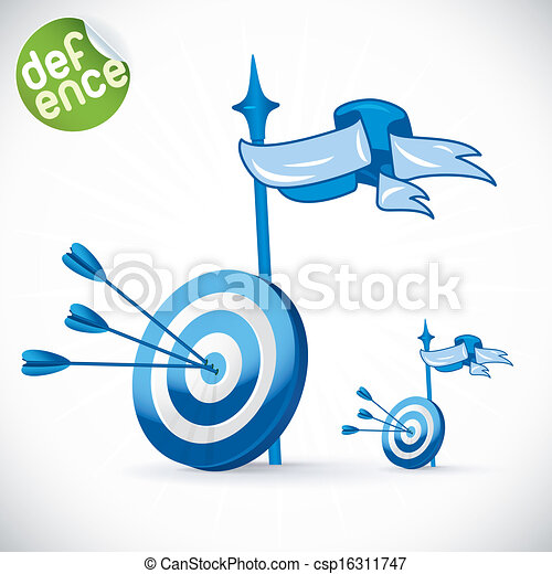 Arrow Hitting Directly In Bulls Eye - csp16311747