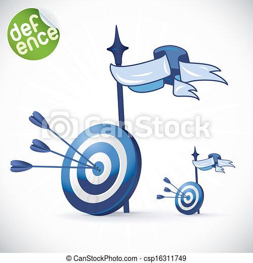 Arrow Hitting Directly In Bulls Eye - csp16311749