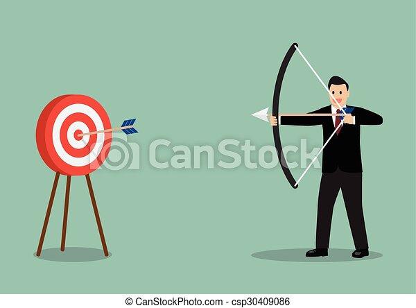 Arrow hitting target - csp30409086