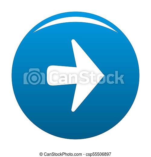Arrow icon blue - csp55506897