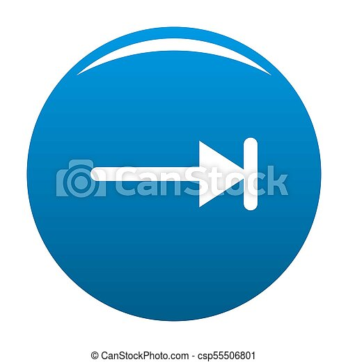 Arrow icon blue - csp55506801