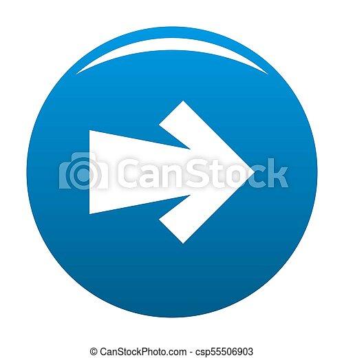 Arrow icon blue - csp55506903