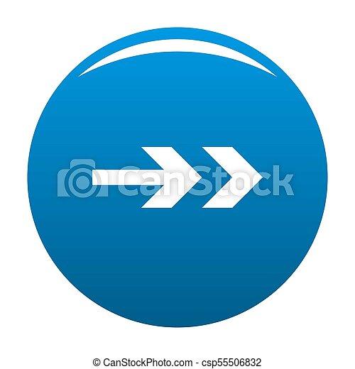 Arrow icon blue - csp55506832