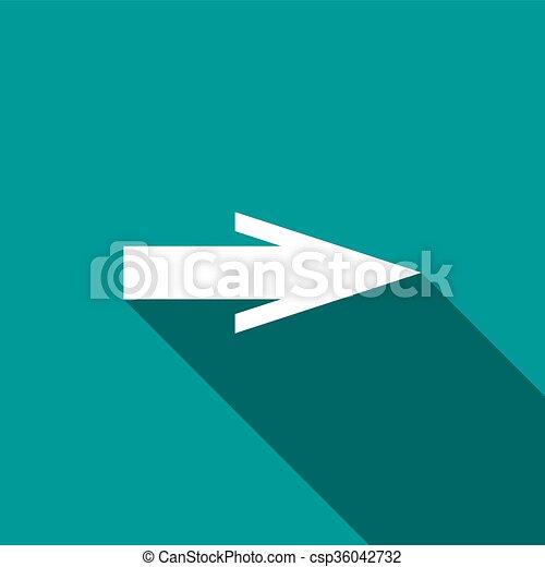 Arrow icon, flat style - csp36042732