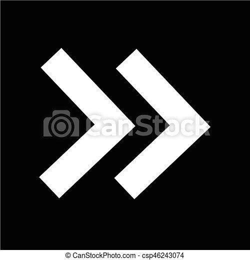 Arrow icon Vector Illustration - csp46243074