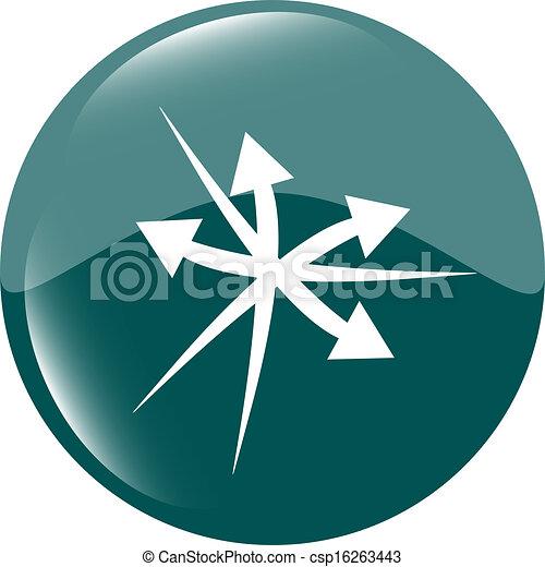 arrow icon web button - csp16263443