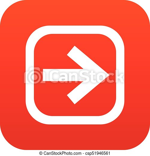 Arrow in square icon digital red - csp51946561