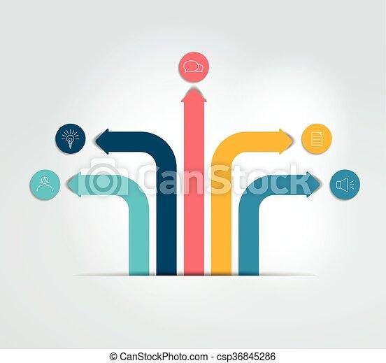 Arrow infographics scheme, flowchart, template. Vector. - csp36845286