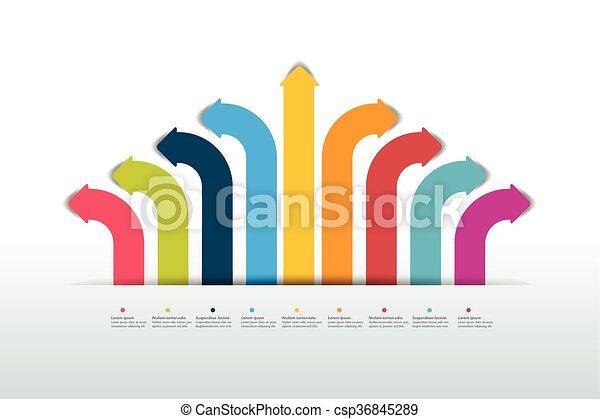 Arrow infographics scheme, flowchart, template. Vector. - csp36845289