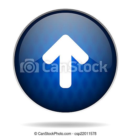 arrow internet blue icon - csp22011578