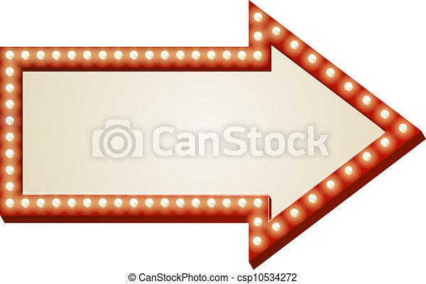 Arrow lights sign - csp10534272