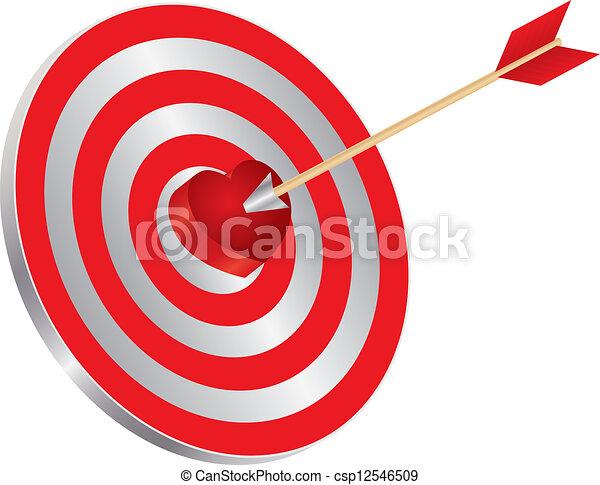 Arrow on target heart bullseye illustration arrow on archery target arrow on target heart bullseye illustration thecheapjerseys Images